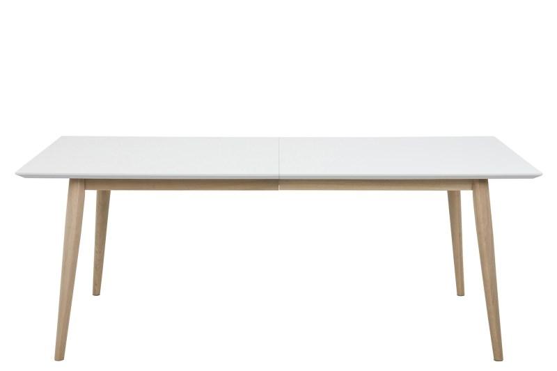 Billede af Century spisebord - hvidlakeret eg, m. udtræk