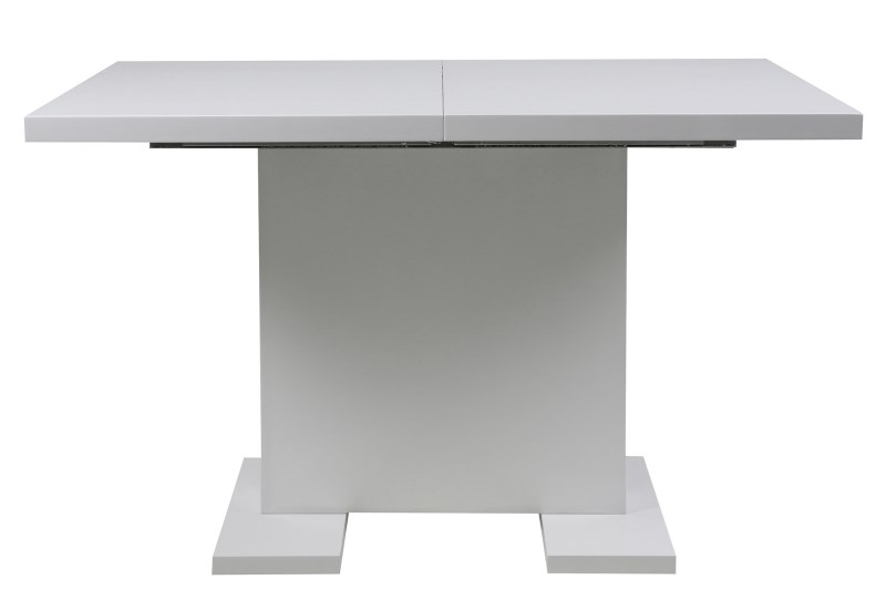 Gust spisebord - hvid højglans, incl. 1 tillægsplade