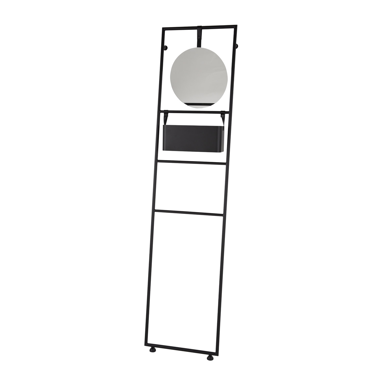 CANETT Vega vægreol, m. spejl og hylde - spejlglas og sort jern