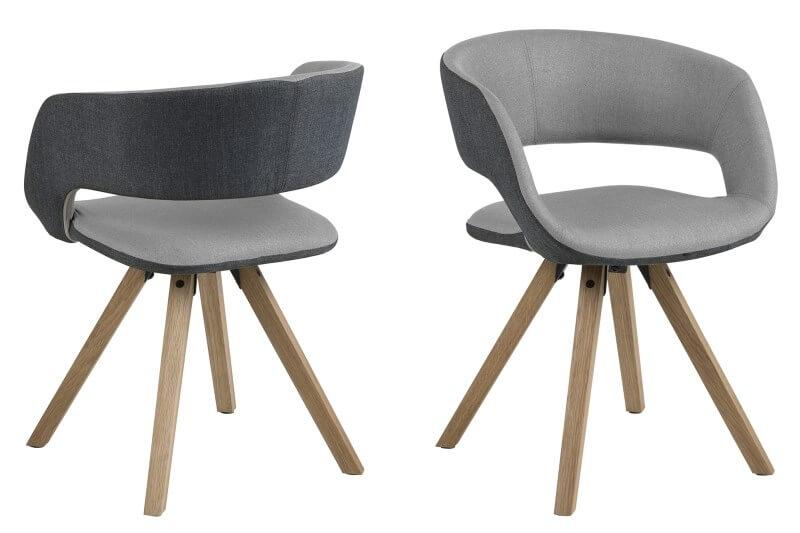 Billede af Grace spisebordsstol Mørk/lys grå