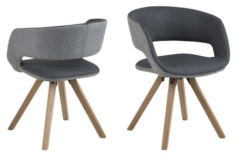 Billede af Grace spisebordsstol Lys/mørk grå