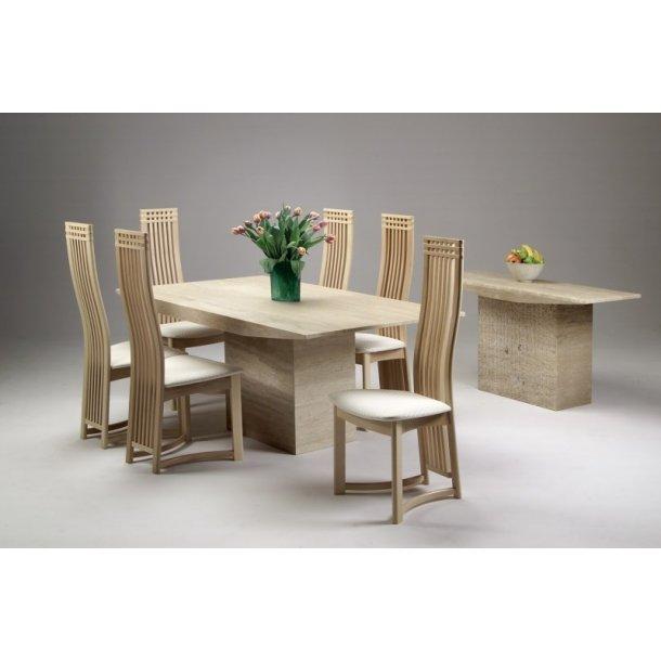 Monaco spisebord med marmorplade