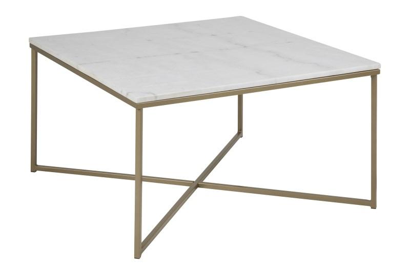 Image of   Alisma marmor sofabord, Hvid