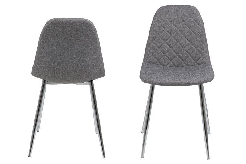 Billede af Wilma spisebordsstol - lysegrå med mønster
