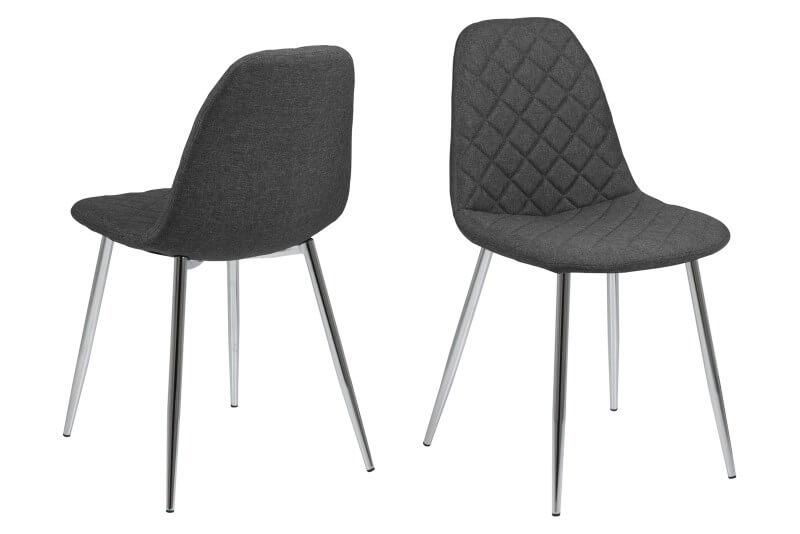 Wilma spisebordsstol - Mørkegrå med mønster