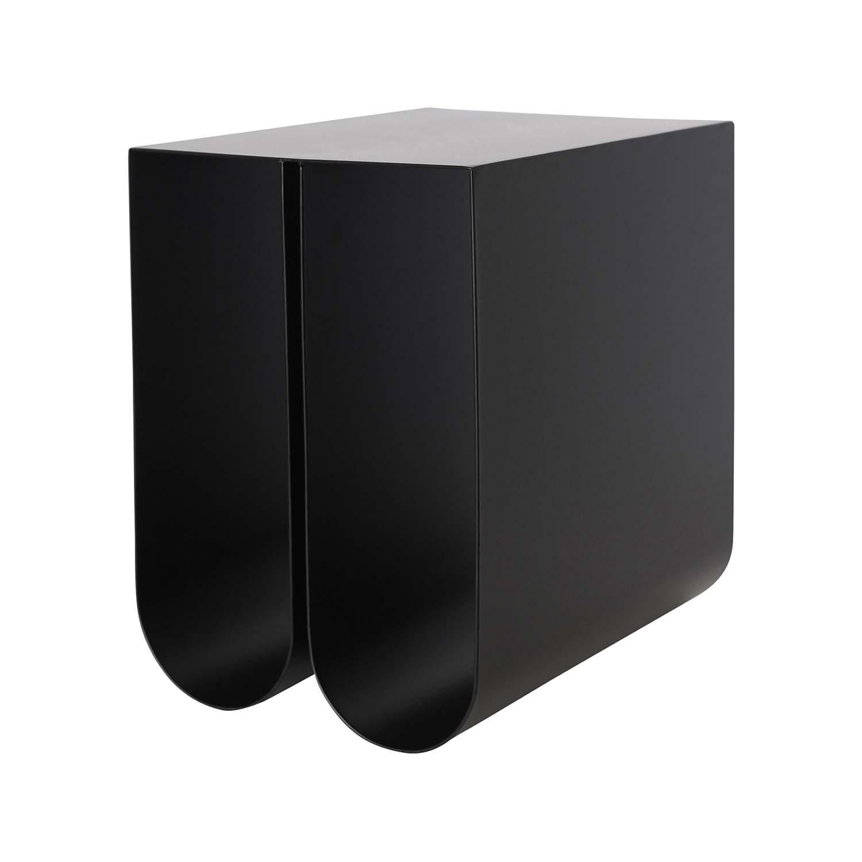 Billede af KRISTINA DAM STUDIO Curved sidebord - sort stål (35,5x26)