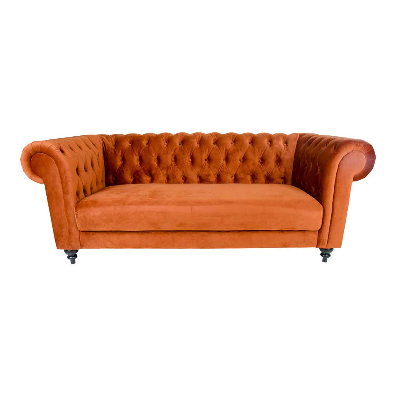 House nordic chester 3 personers sofa, orange velour fra house nordic fra boboonline.dk
