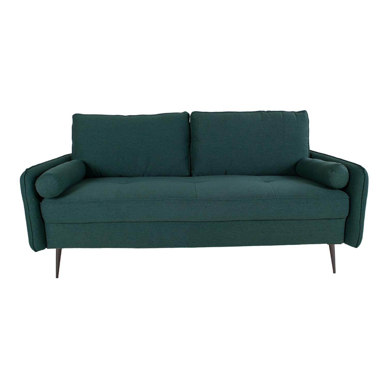 HOUSE NORDIC Imola 2,5 pers. sofa, m. armlæn - grøn stof og metal