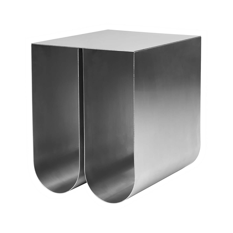 Billede af KRISTINA DAM STUDIO Curved sidebord - rustfrit stål (35,5x26)