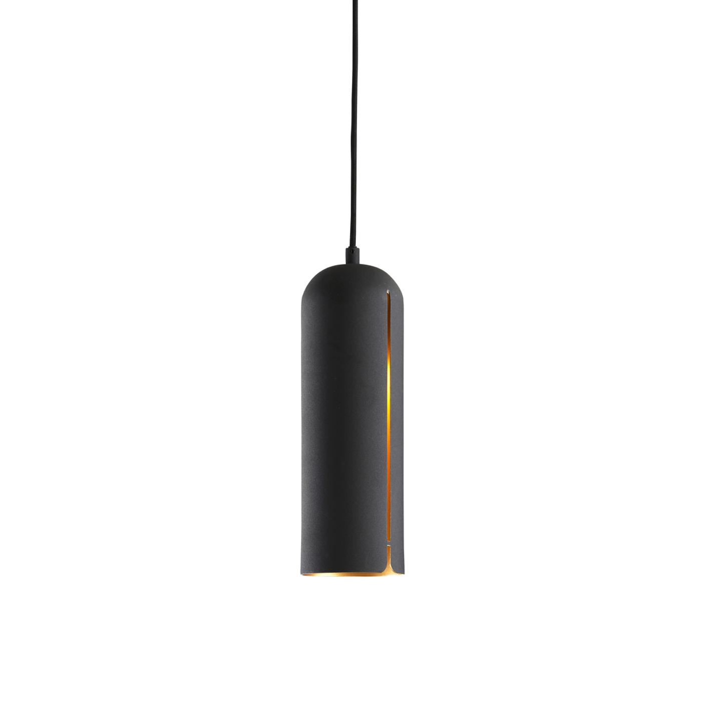 WOUD Gap loftlampe høj - sort metal, rund (Ø10)