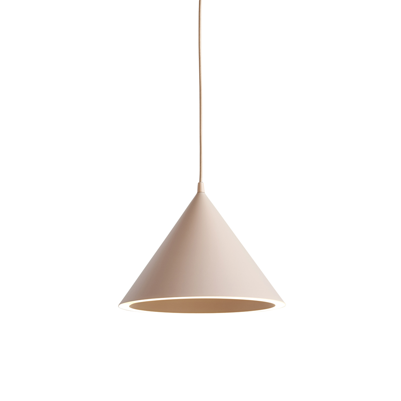 WOUD Annular loftlampe - nude, kegleformet (Ø32)