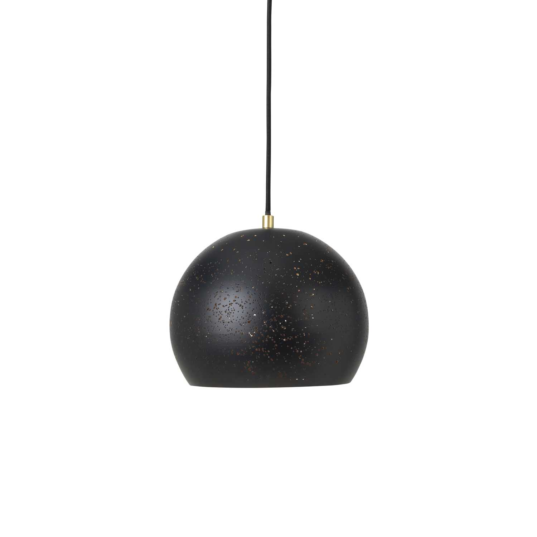 Køb BROSTE COPENHAGEN Lavas loftlampe – messing/sort metal, rund (Ø25)