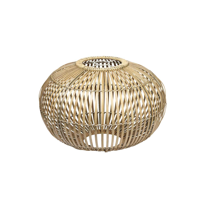BROSTE COPENHAGEN Zep lampeskærm til ophæng - natur bambus, rund (Ø48)
