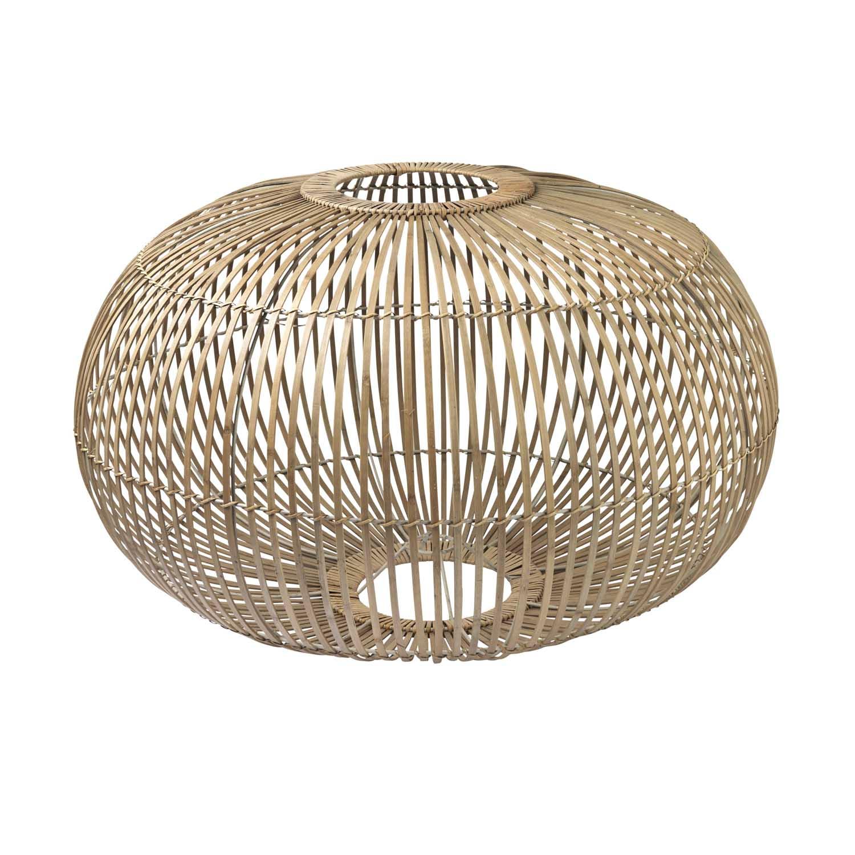 BROSTE COPENHAGEN Zep lampeskærm til ophæng - natur bambus, rund (Ø68)