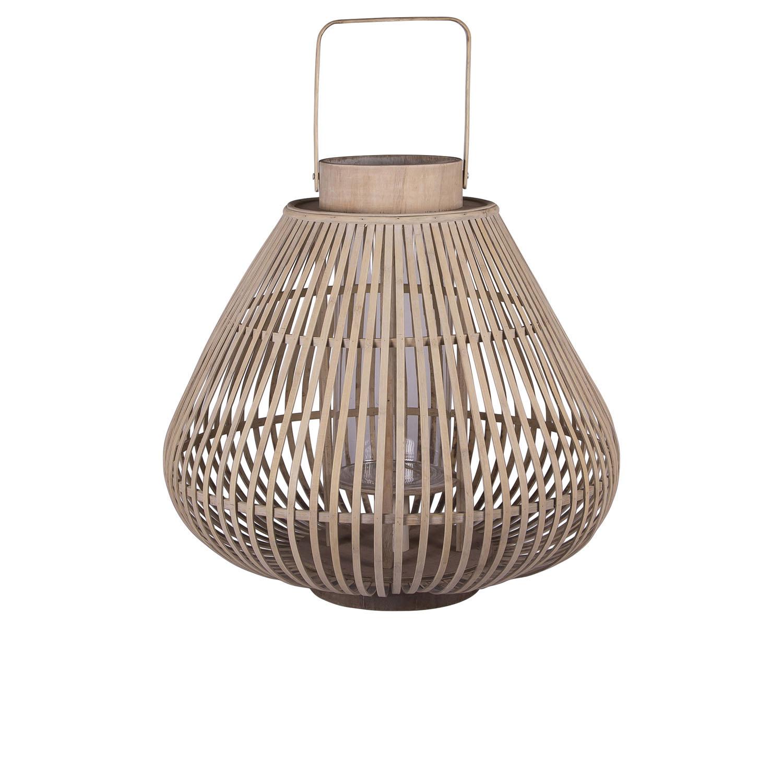 Køb BROSTE COPENHAGEN Sahara L lanterne, rund – glas og natur bambus (Ø44)