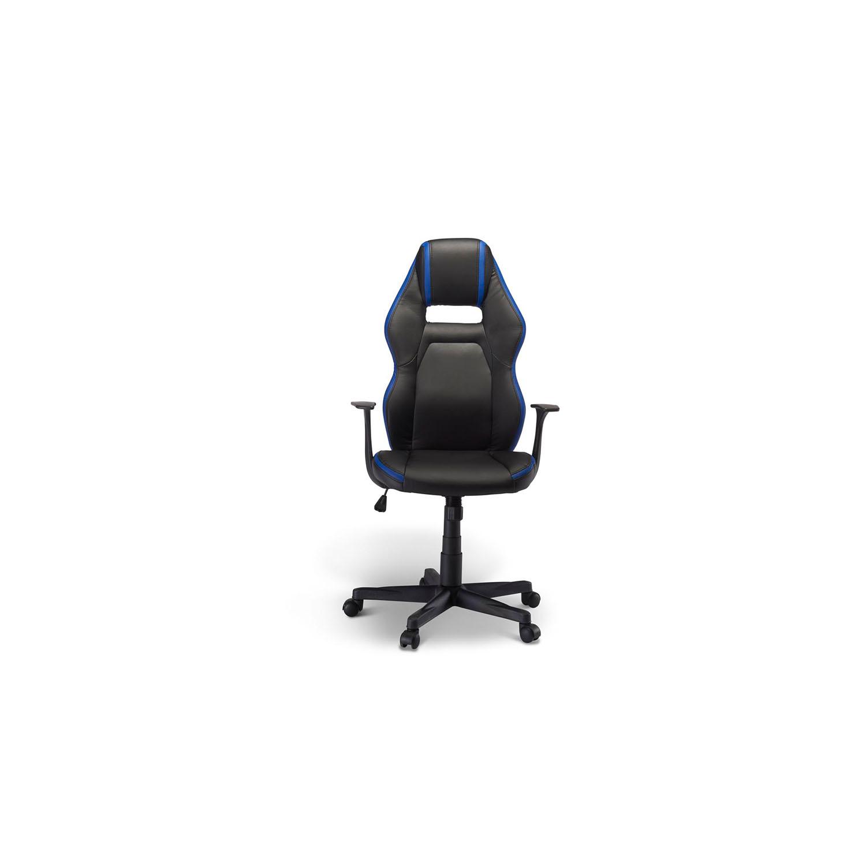 Billede af Space gaming stol - blå og sort kunstlæder, m. armlæn
