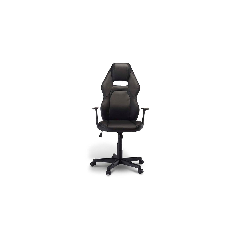 Billede af Space gaming stol - sort kunstlæder, m. armlæn