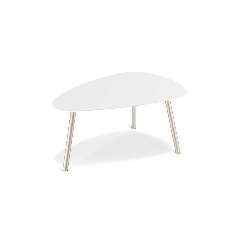 Malou Sofabord - Hvid Træ M. Stålben, 88 X 62 Cm Dagligstue