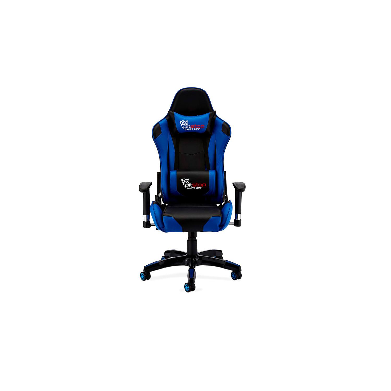 Billede af Gaming stol - sort/blå kunstlæder, med armlæn