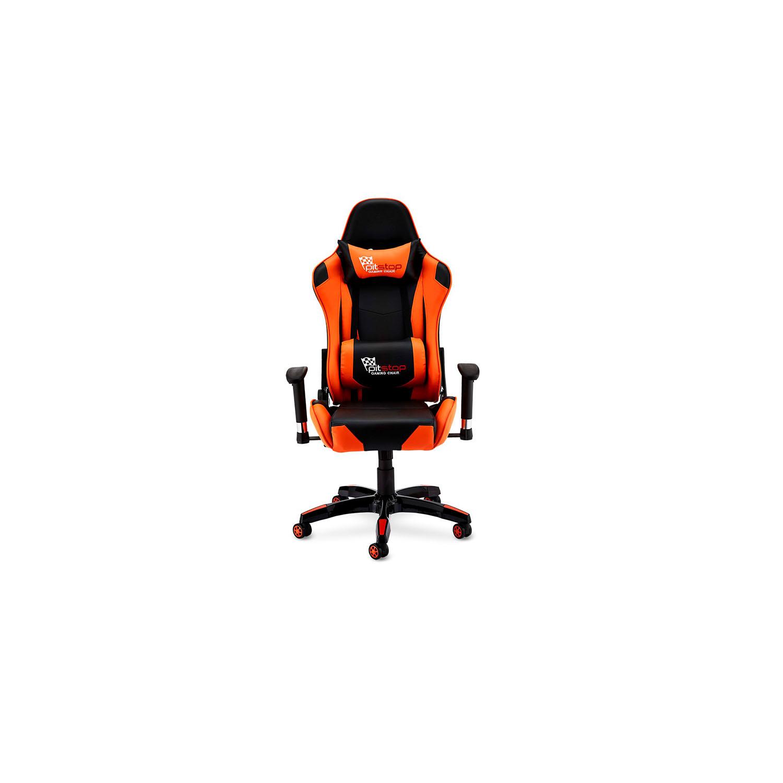Billede af Gaming stol - sort/orange kunstlæder, med armlæn