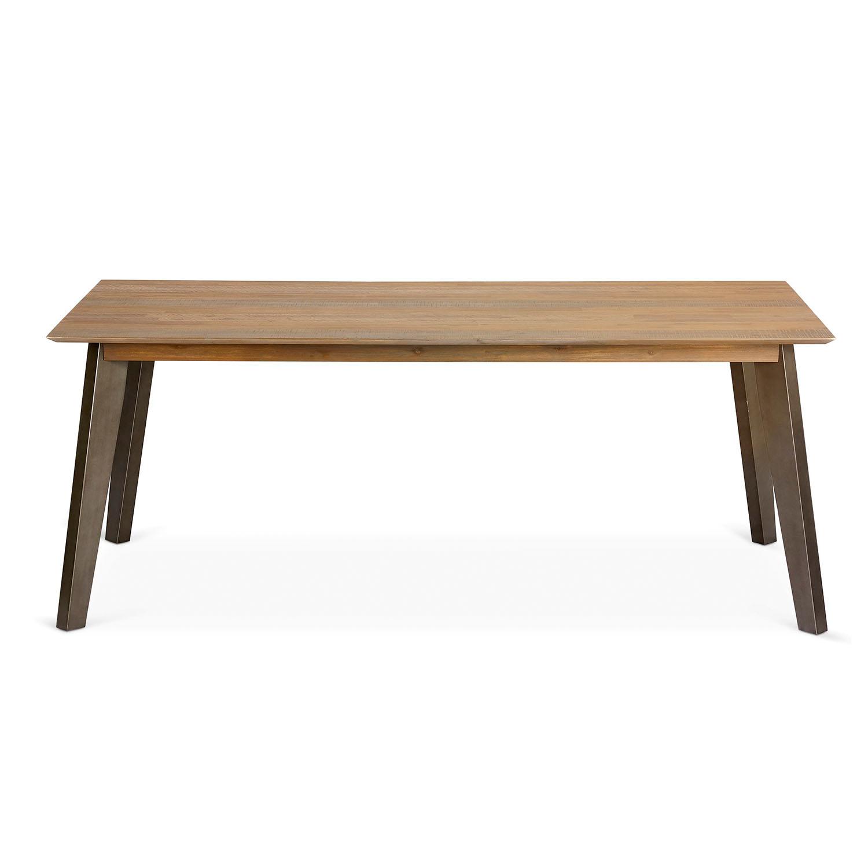 Malaga spisebord - brunt/gråt akacietræ, m. udtræk (200x100)