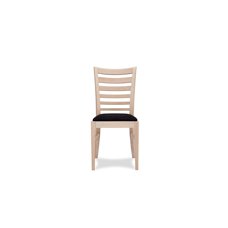 Jannie spisebordsstol - egetræ m. sort hynde thumbnail