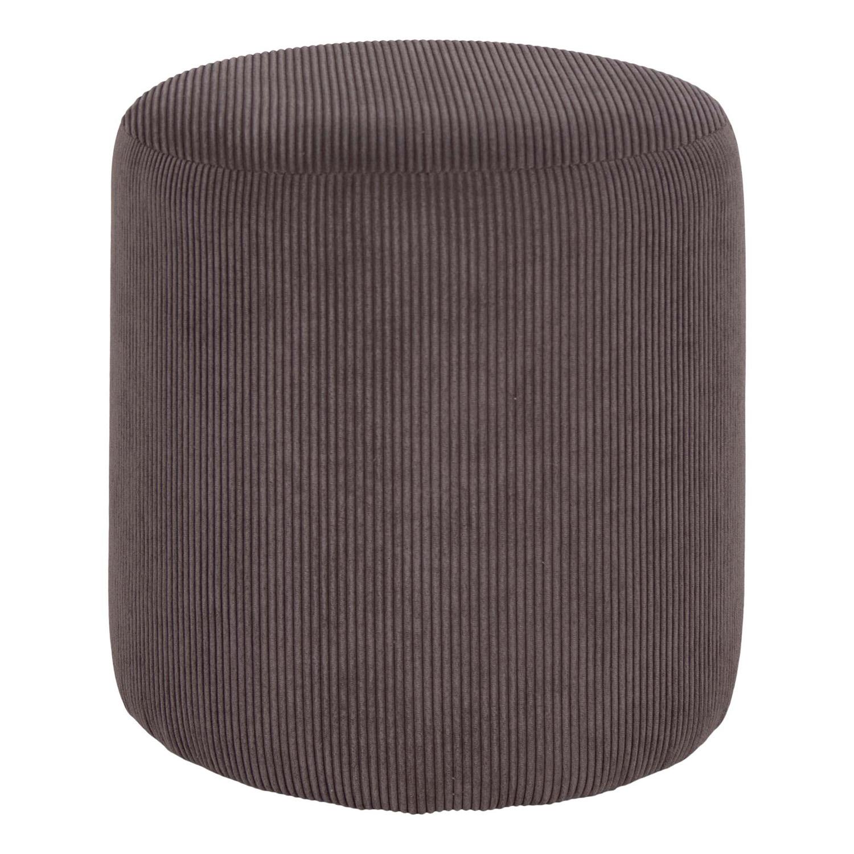 HOUSE NORDIC rund Ejby puf - grå stof (Ø34)