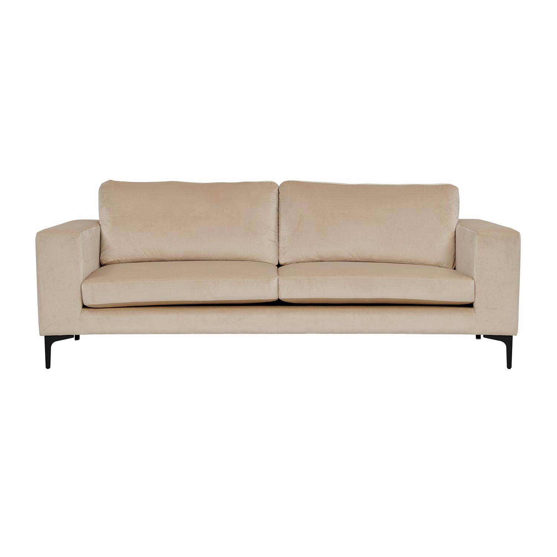 VENTURE DESIGN Bolero 3 pers. sofa - beige velour og sort metal