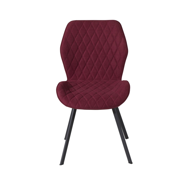 VENTURE DESIGN Gemma spisebordsstol - rød polyester og sort metal