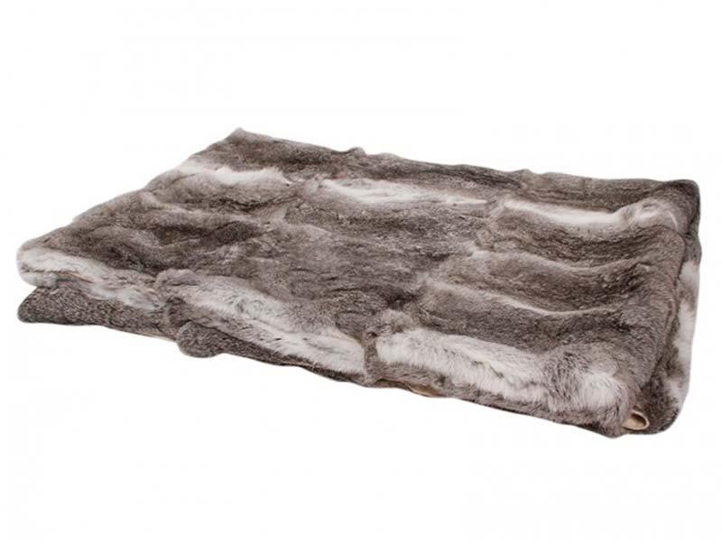Image of   Kaninskinds tæppe, mørkegrå