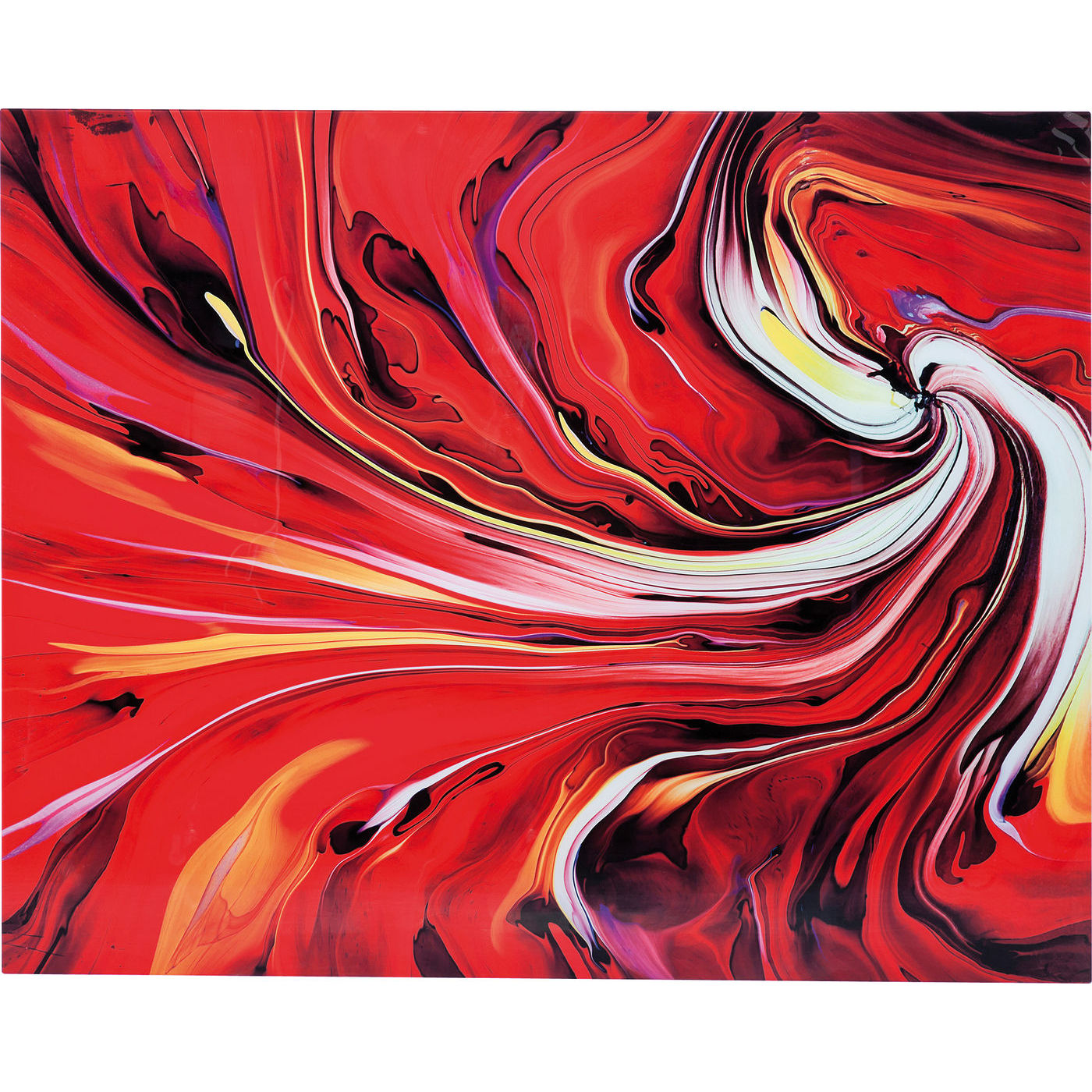 Image of   Kare Design Chaos Fire Plakat, Glas 150x120cm