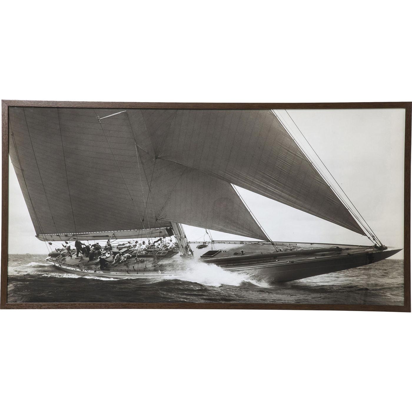 Image of   KARE DESIGN Sailing Plakat Med Ramme 84x164cm