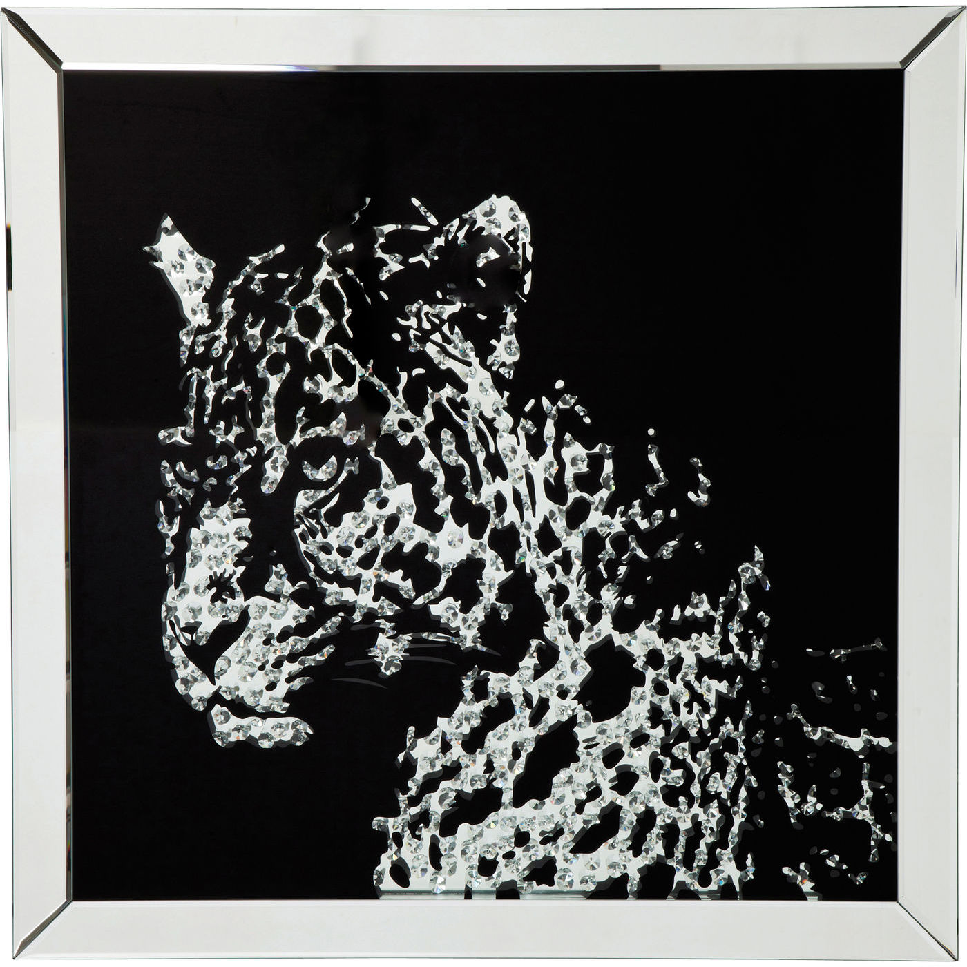 kare design Kare design plakat, mirror leopard - multifarvet, m. ramme, (80x80cm) på boboonline.dk