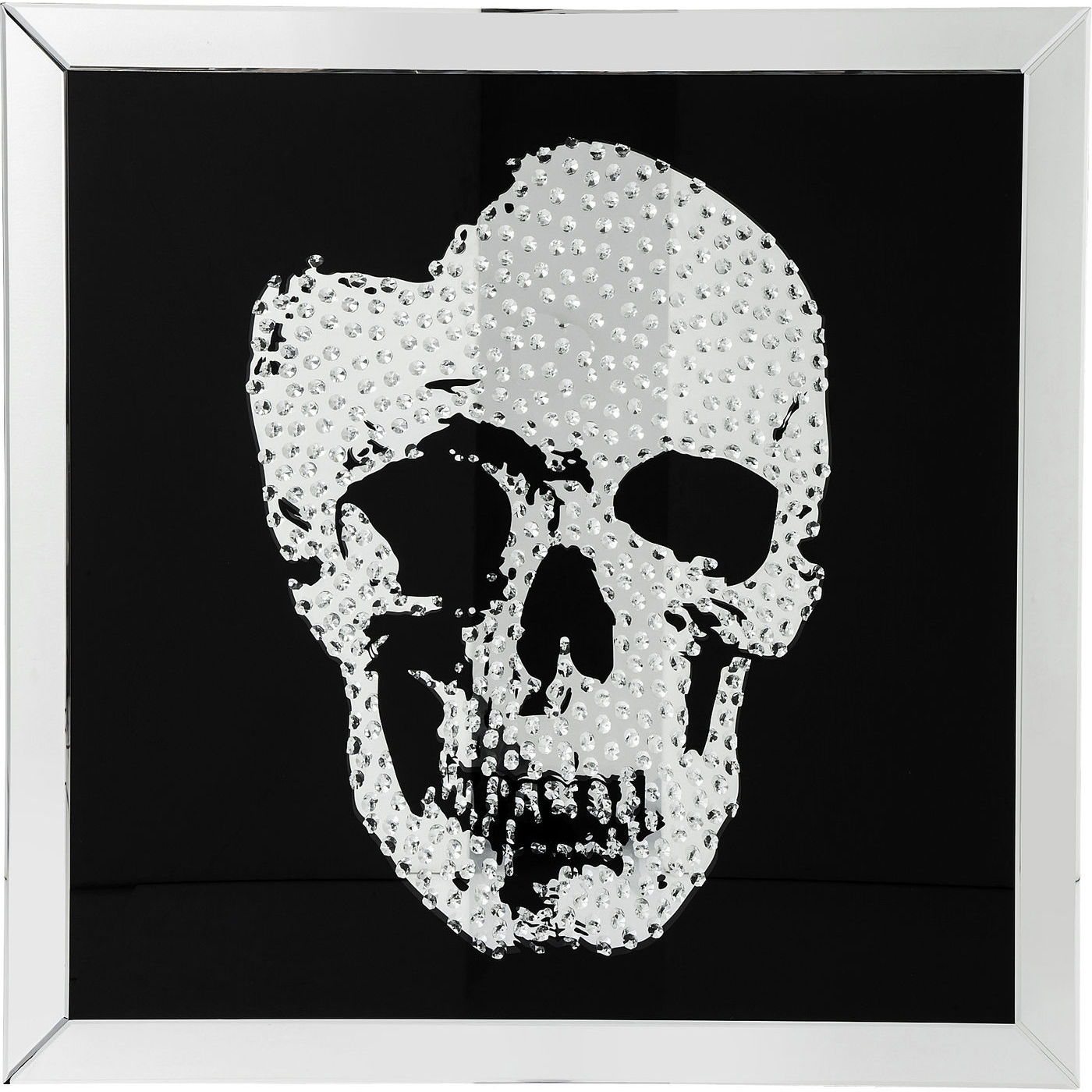 Image of   KARE DESIGN Plakat m. Ramme, Mirror Skull 100x100cm