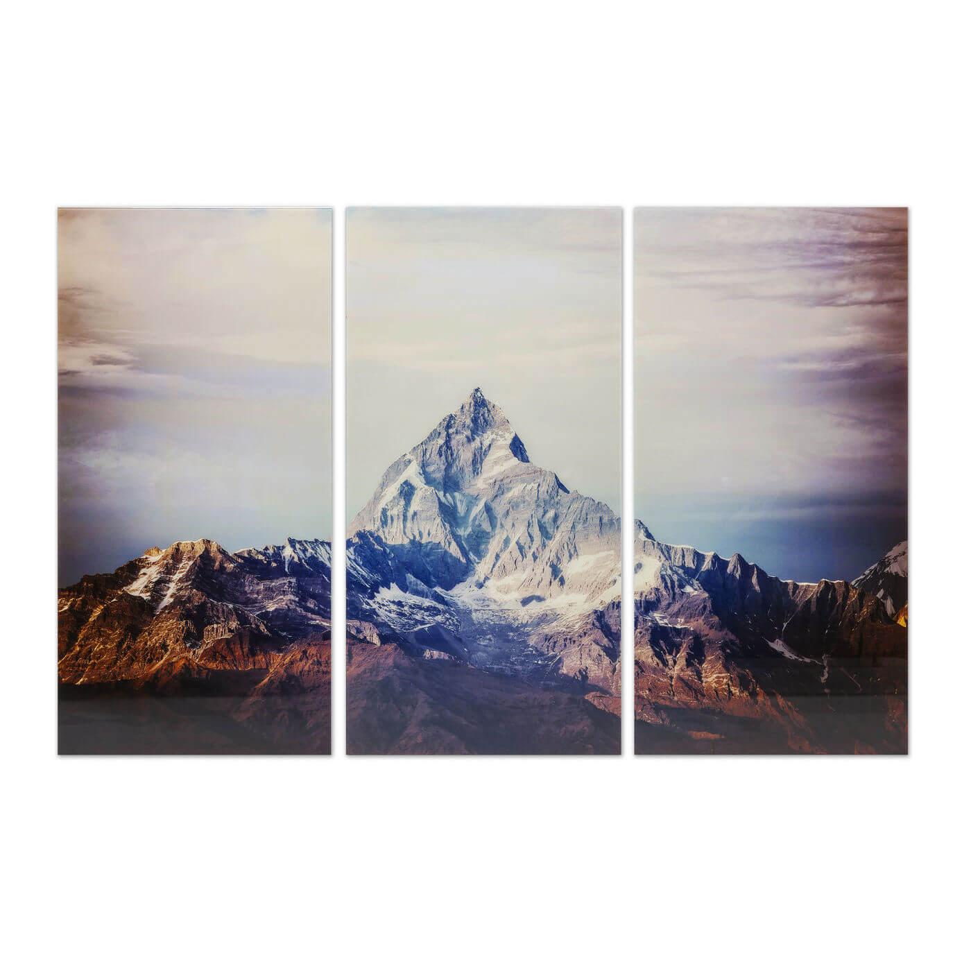 Image of   KARE DESIGN Triptychon Himalaya Plakat, Glas