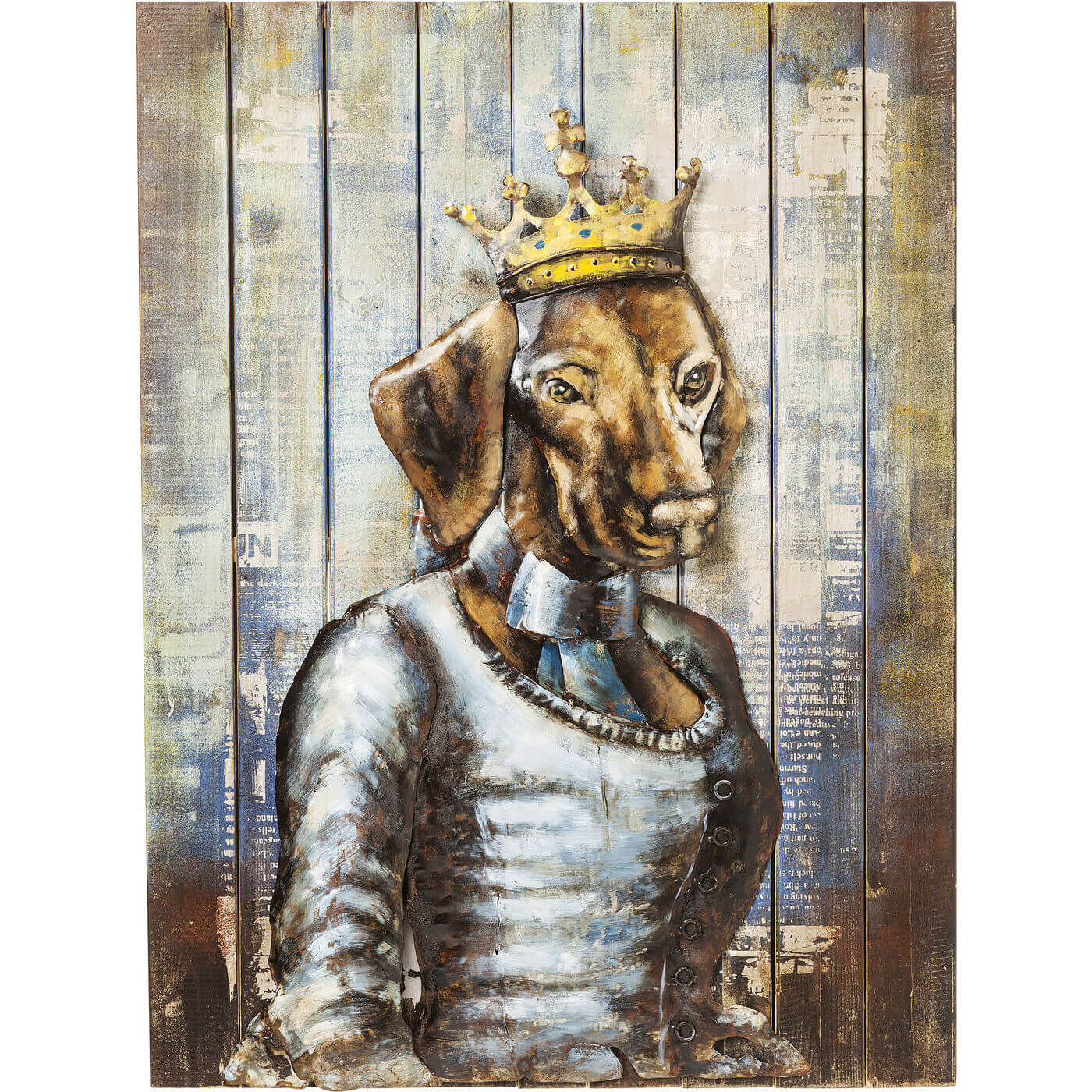 Image of   KARE DESIGN Plakat, Iron Queen Dog, 100x75cm