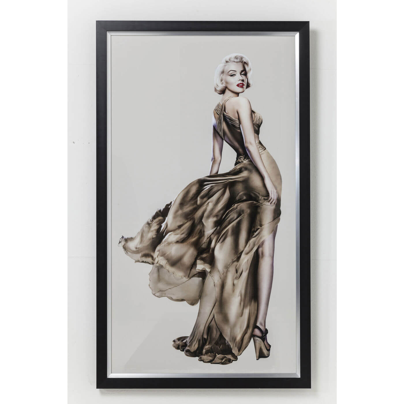 kare design – Kare design plakat marilyn - brun/creme/grå, m. ramme, (172x100cm) fra boboonline.dk