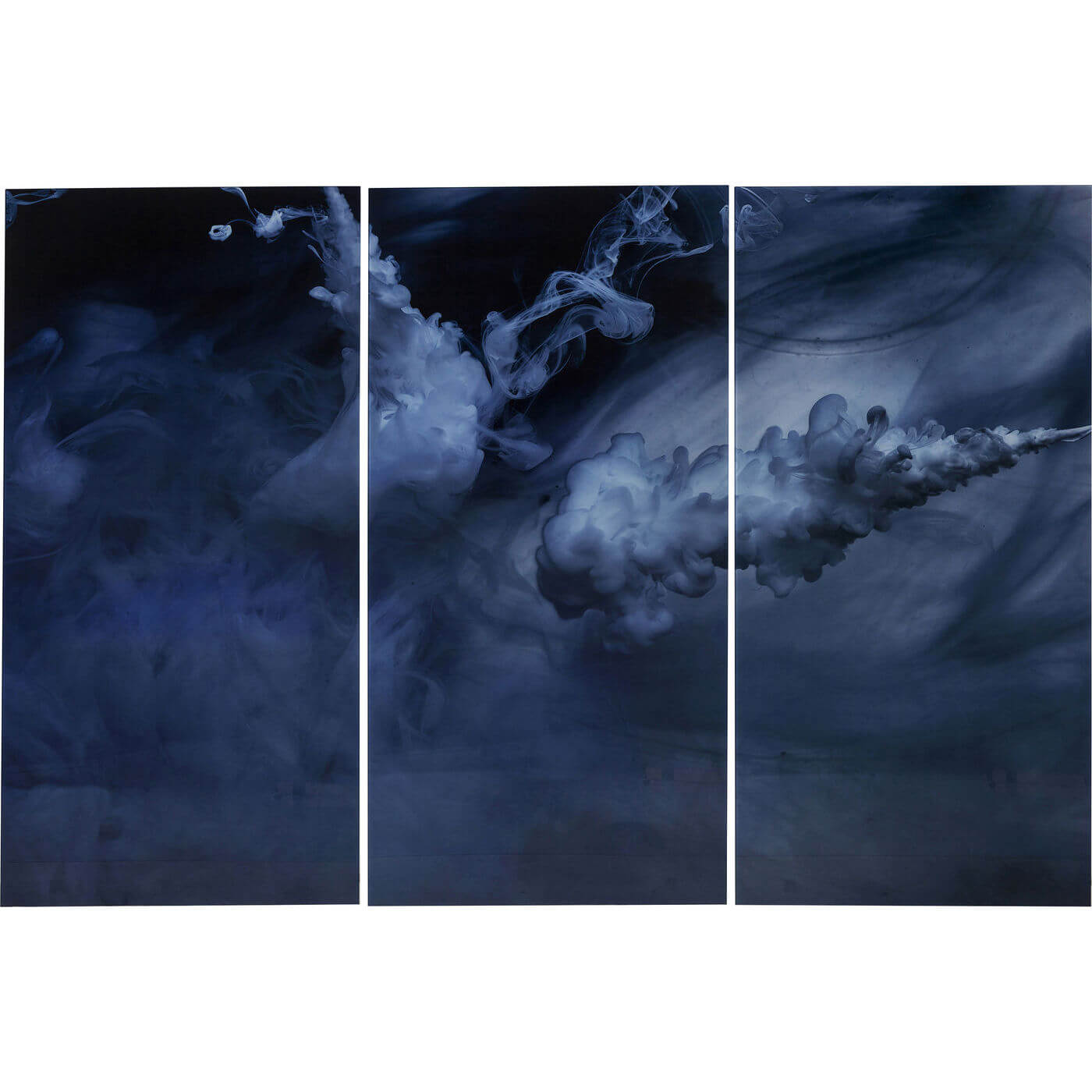 Kare design triptychon clouds plakat - hvid glas og komposittræ, (160x24cm) fra kare design på boboonline.dk