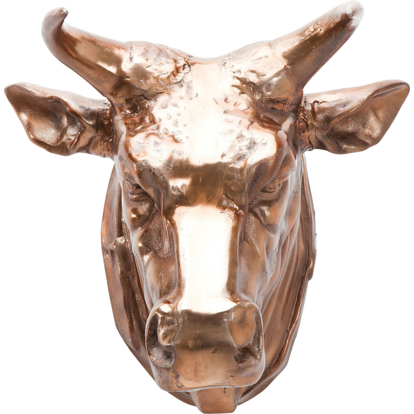 KARE DESIGN Vægskulptur, Head Buffalo Copper