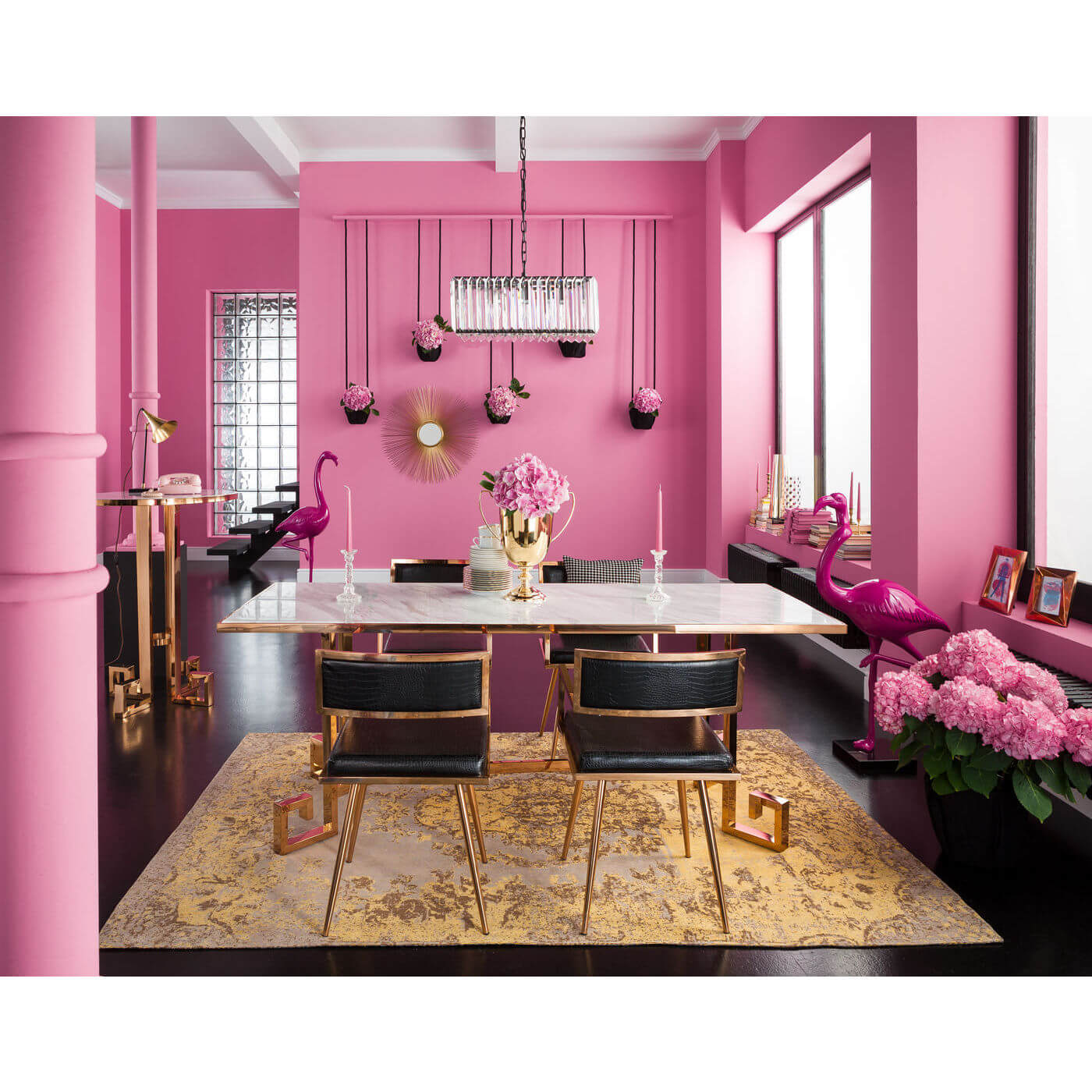 skulptur flamingo den flotteste pink farve glasfiber. Black Bedroom Furniture Sets. Home Design Ideas