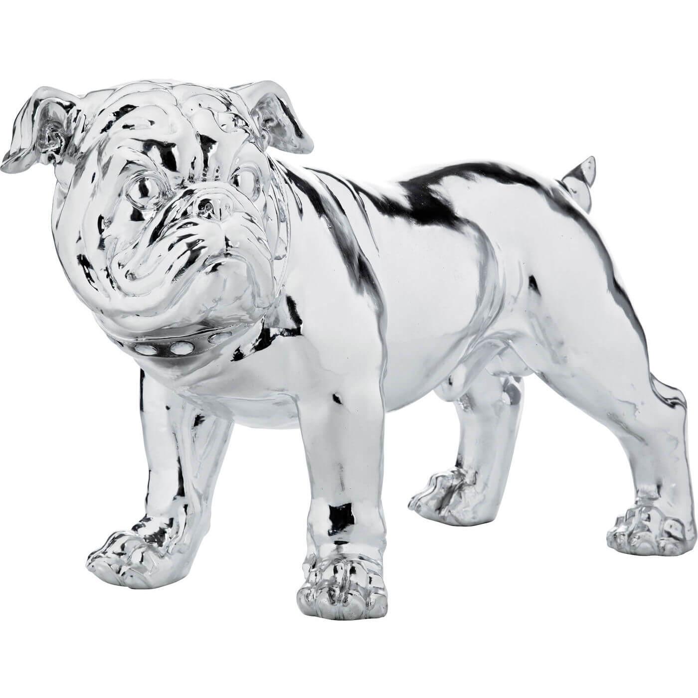 KARE DESIGN Skulptur, Figur Bulldogge Silver Eco