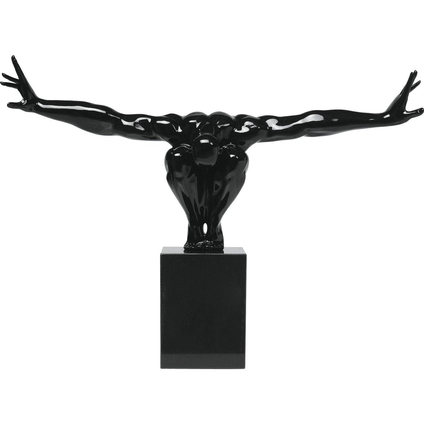 Kare design skulptur, athlet black - sort glasfiber og marmor, (52x75cm) fra kare design fra boboonline.dk