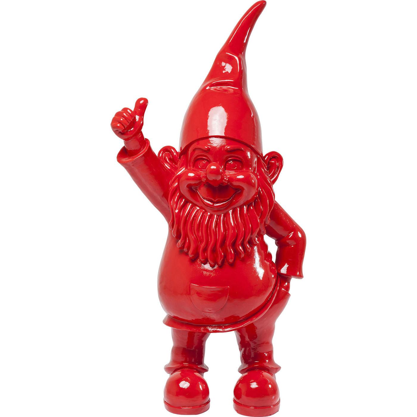 kare design – Kare design skulptur, zwerg red - rød polyresin, (152x53cm) på boboonline.dk