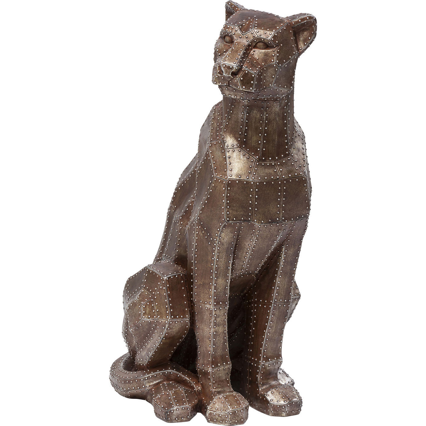 Image of   Kare Design Skulptur, Sitting Cat Rivet Copper