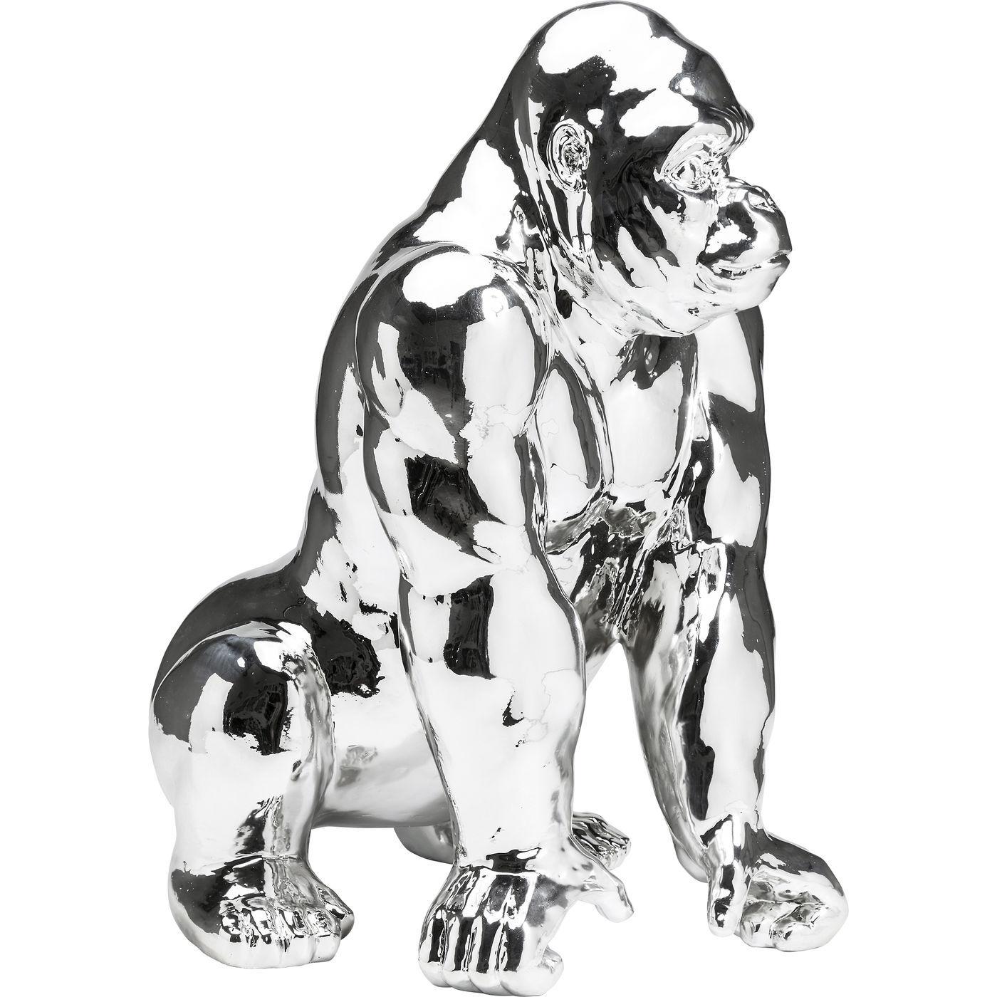 Image of   KARE DESIGN Skulptur, Gorilla Chrome