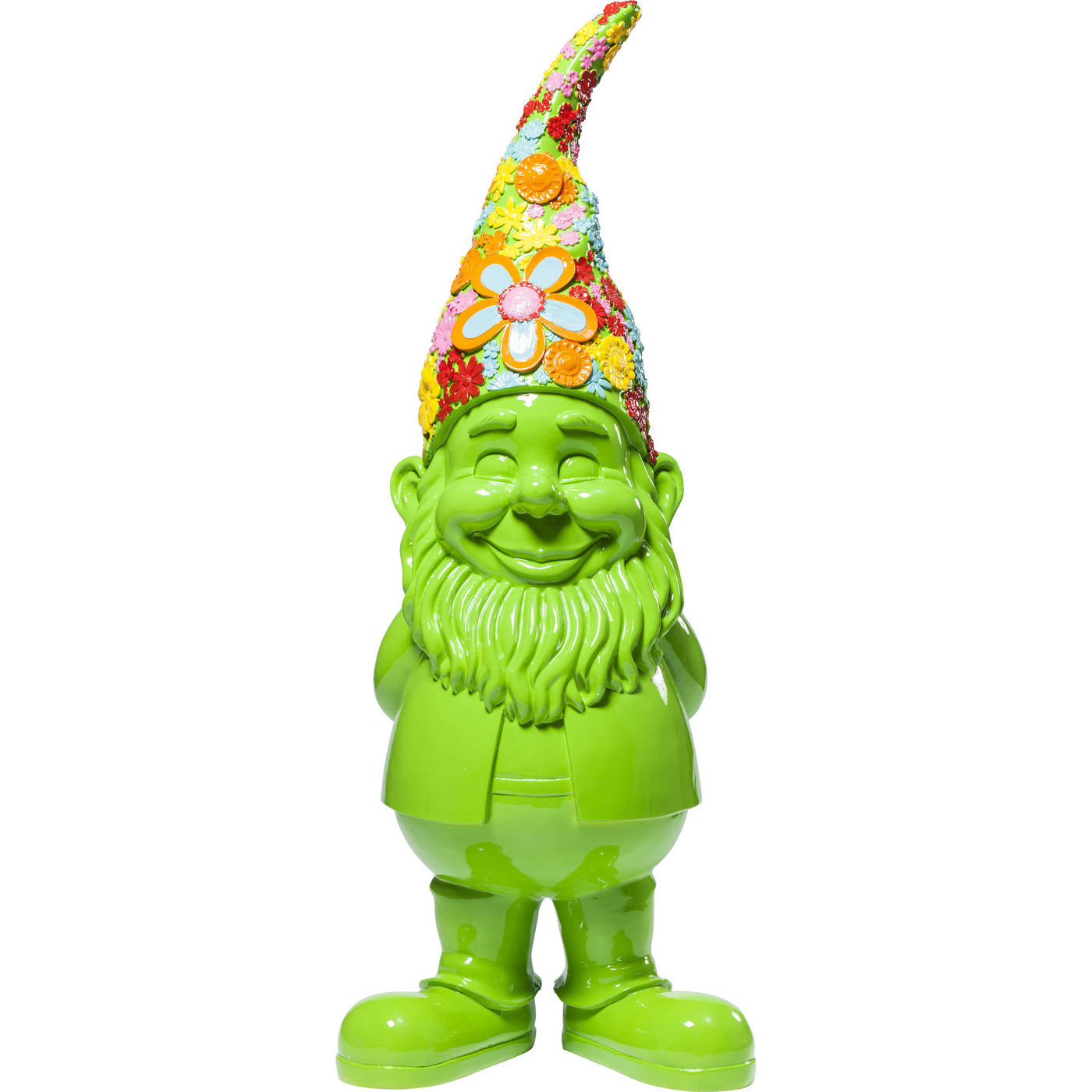 Image of   Kare Design Skulptur, Gnome Flower Power Green