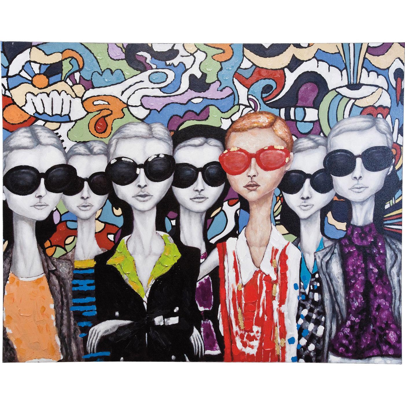 kare design Kare design sunglasses oliemaleri - multifarvet lærred, håndmalet (120x150) på boboonline.dk