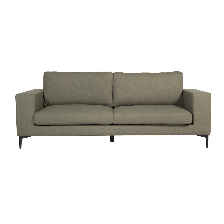VENTURE DESIGN Bolero 3 pers. sofa - grøn polyester og sort metal