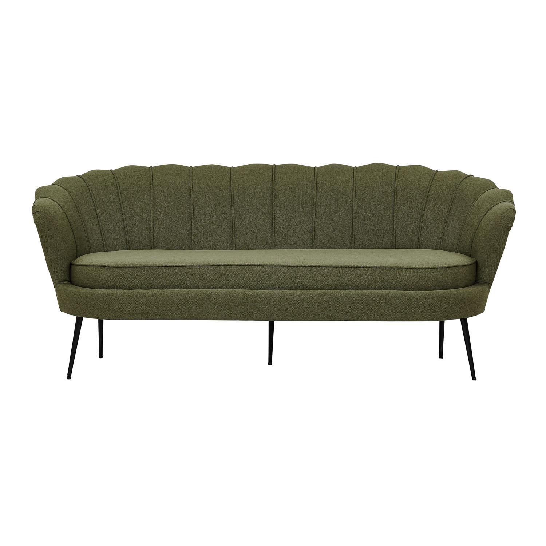 VENTURE DESIGN Calais 3 personers sofa – grøn polyester og sort metal
