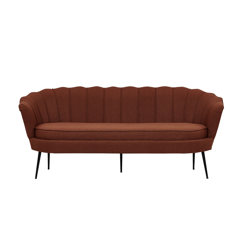 VENTURE DESIGN Calais 3 personers sofa – rust polyester og sort metal